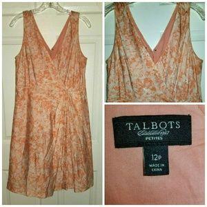 Talbots Peties Dress Size 12P Silk Blend